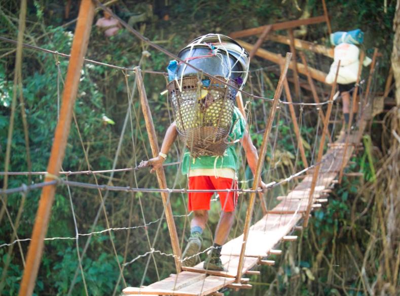 Bridge crossing, Burma