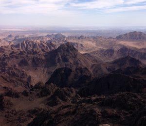 Stunning views from high up across Egypt's Sinai desert