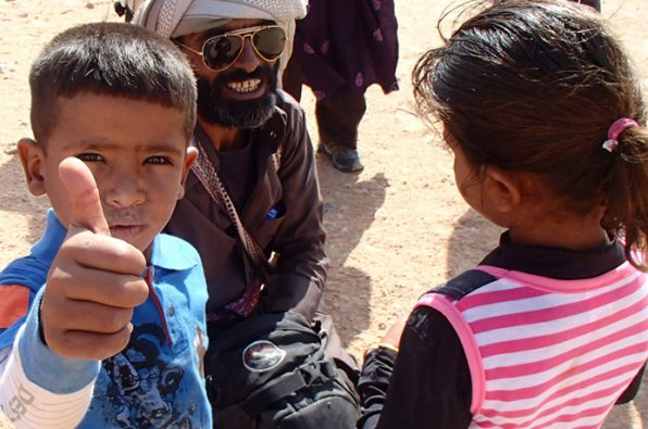 Socialising with the locals in the Sinai desert
