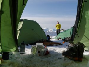 A view from the tent