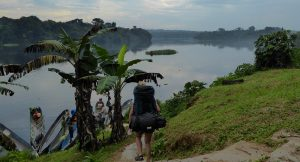 Walking to the Djidji river to commence the packrafting expedition