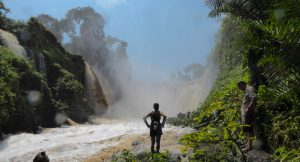 The Kangou waterfall in the Invido national park of Gabon