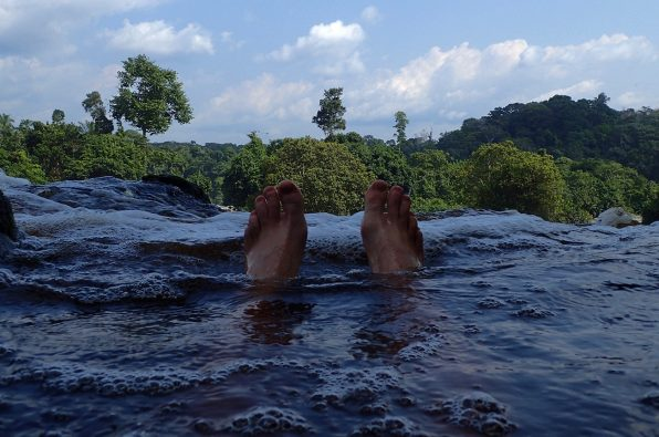 Floating down stream of the Djidji river in Gabon