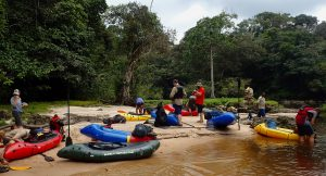Packrafting down the Invido river, Gabon
