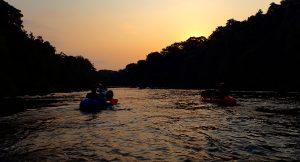 Sunset on the gabon rivers