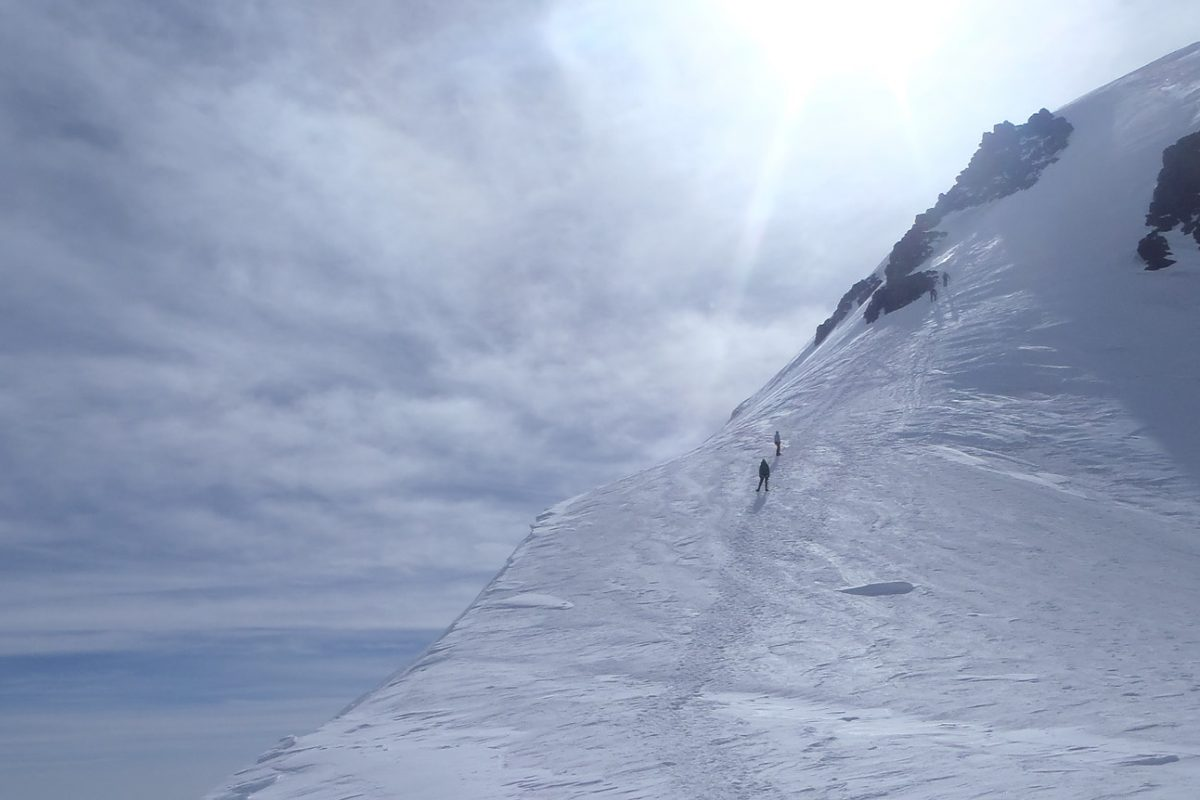 The top of Mt. Kazbek