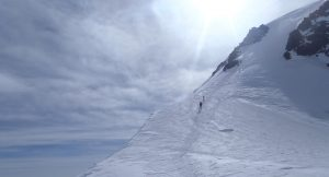 The top of Mt. Kazbek