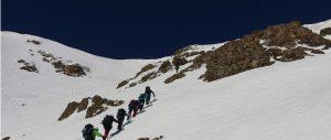 Iraqi Kurdistan team mates trek above the snowline on Secret Compass adventure