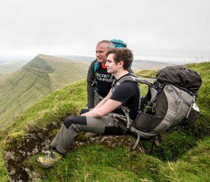 Trekking training trips, having a rest