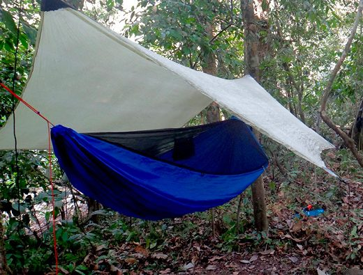 Camping in the darien gap, Panama