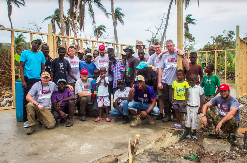 "Team Rubicon Haiti Image 10 - ""Having demolished the old school work in progress to construct a new building. The locals opted for a wooden frame construction because of the damage caused by concrete blocks during the earthquake in 2010"" - c. Team Rubicon UK.jpg"