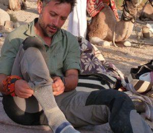Luca Alfatti in Egypt's Sinai desert