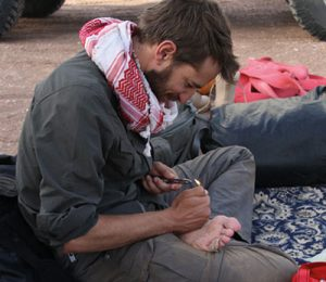 Footcare in Iran's Lut desert
