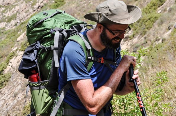 Man on trek, Armenia expedition with Secret Compass, joined by Tom Allen of the Transcaucasian trail8