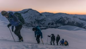 Hiking at dawn to summit the highest peak wholly in Iraq, Mt. Halgurd