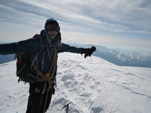 Secret Compass Expedition Leader Phil de-Beger Summits Georgia's Mt. Kazbek