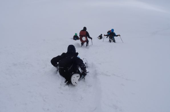 Heavy snowfall on the March 2017 Iraqi Kursidtan Expedition