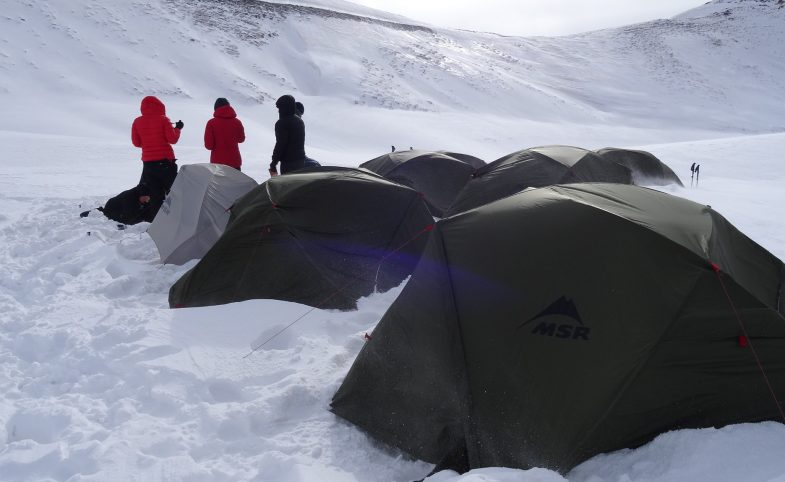 MSR tents in the Mount Halgurd region of the Zagros mountains in Iraqi Kurdistan on an expedition with (c) Secret Compass