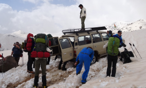 Expedition vehicle up in the Mount Halgurd region of the Zagros ranges on an expedition to Iraqi Kurdistan © Secret Compass.