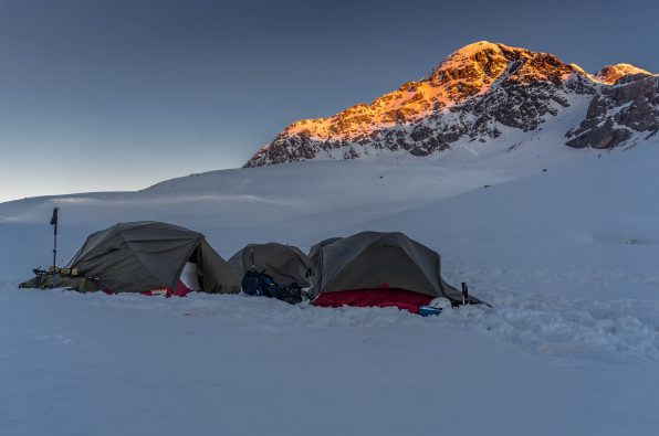 This is what sunrise looks like on summit day on Mt. Halgurd