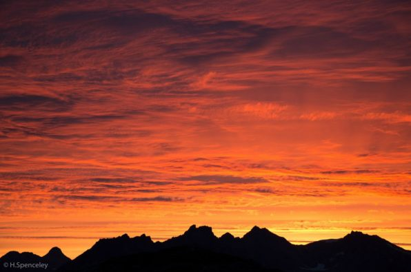 Alpine sunsets are a hard sight to beat.