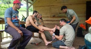 Treating jungle feet