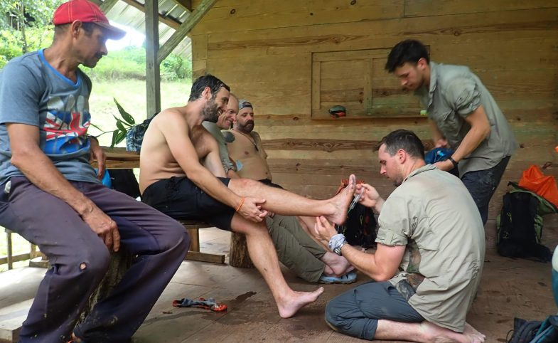 Treating jungle feet