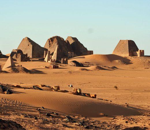 Meroe Pyramids in the Bayuda Desert Sudan