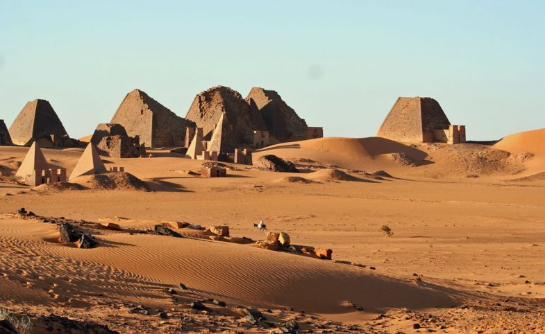 Meroe Pyramids in the Bayuda Desert Sudan