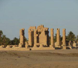 Ancient ruins in the Bayuda Desert