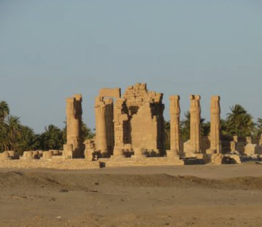 Ancient ruins in the Bayuda Desert