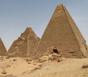 Ancient Moroe pyramids in the Bayuda Desert