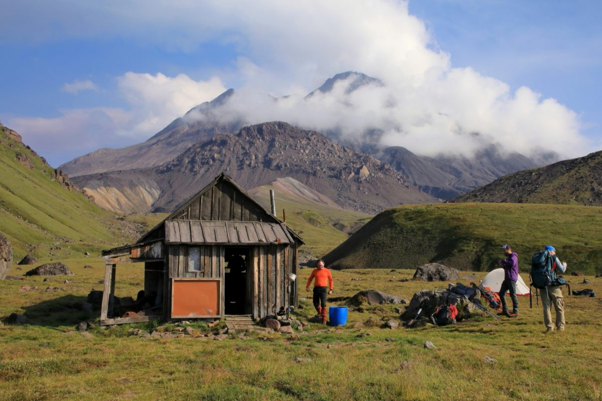 Volcanologist hut in Kamchatka