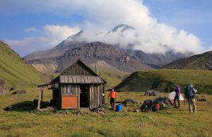 Volcanologist hut in Kamchatka