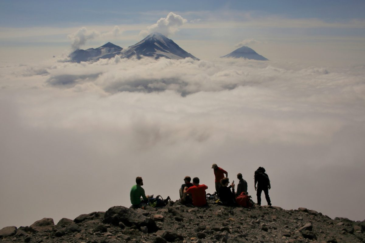 Above the clouds in Kamchatka