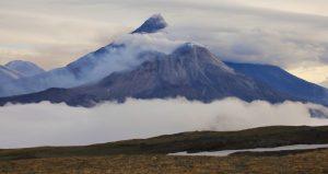 Volcanos shrouded in cloud