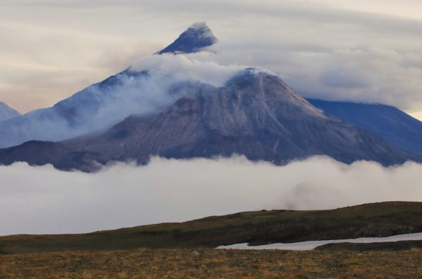 Volcanos shrouded in cloud