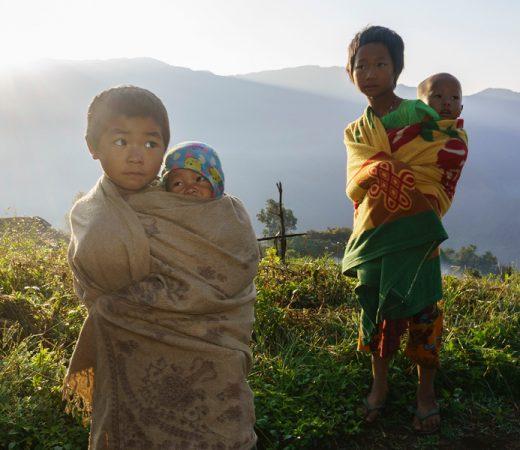 Local children in Burma's Nagaland