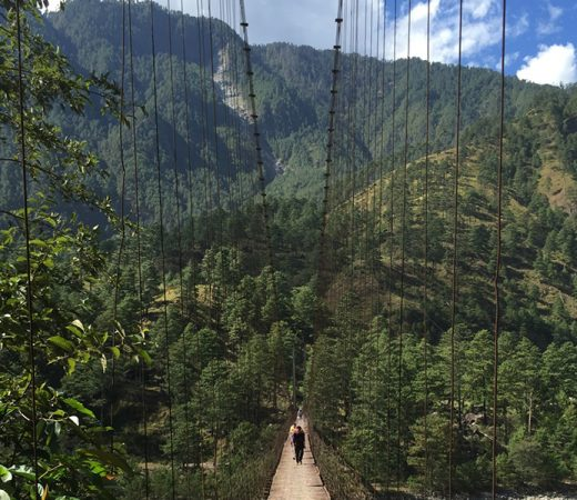 Bridge crossing in Burma's Nagaland