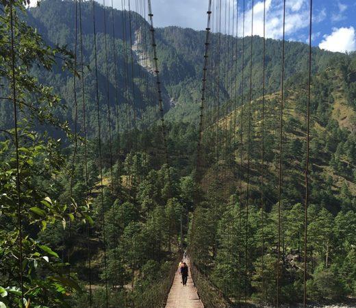 Bridge crossing in Burma's Nagaland