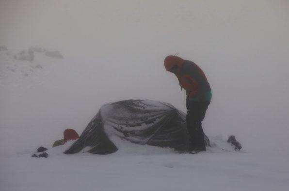 Intense snow in Kamchatka