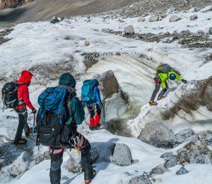 Secret Compass teammates practice their technical alpine skills ahead of summit bid