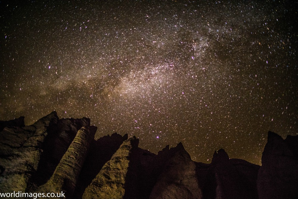 Stars in the desert