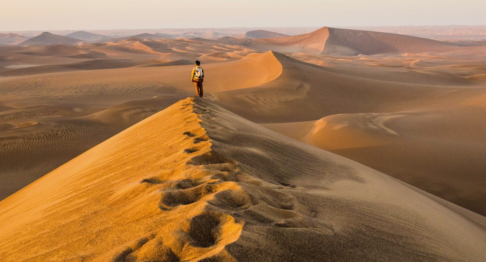 Trekking in the Lut desert Iran