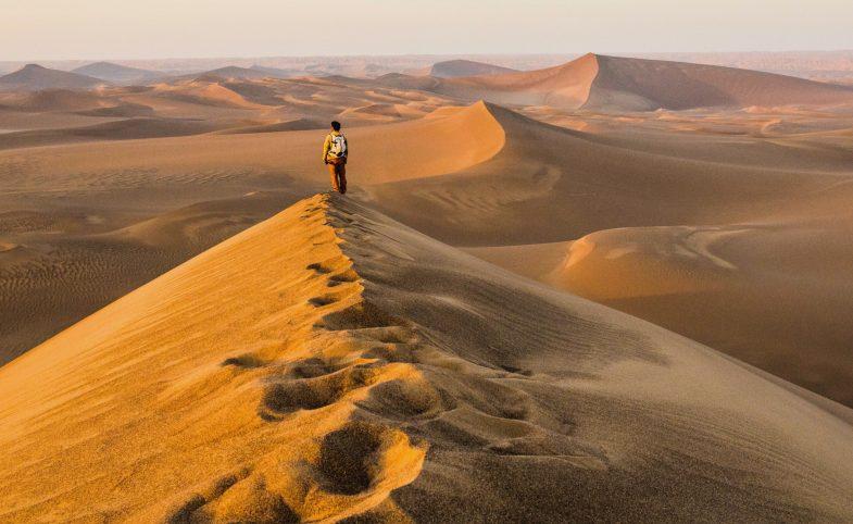 Trekking in the Lut desert Iran