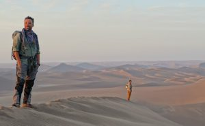 Expedition leader Luca Alfatti in the Lut desert