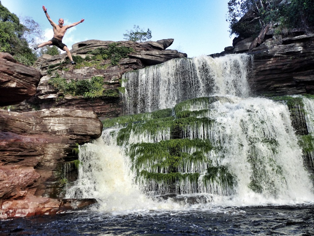 Refreshing and energising at the bottom of Angel Falls