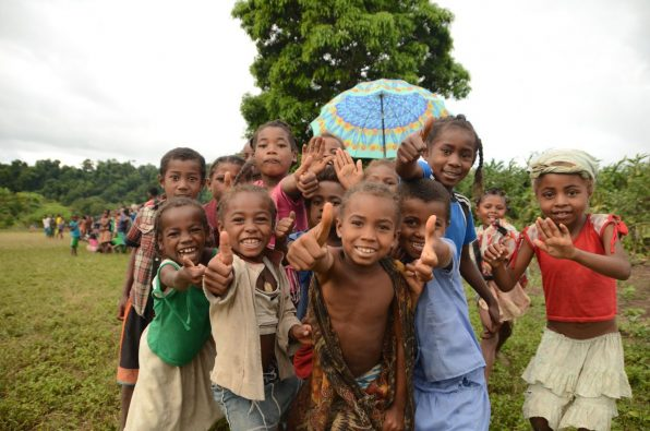 Local kids in Madagascar