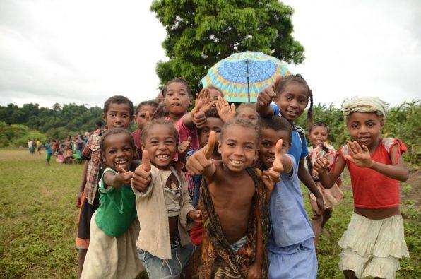 Local kids in Madagascar