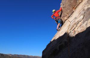 Becky Coles rock climbing ©Simon Verspeak